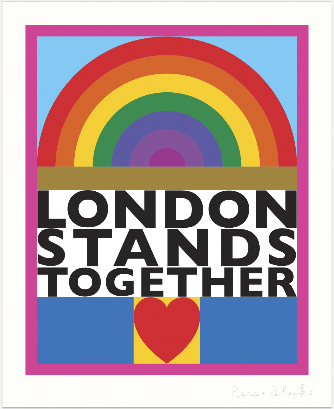 London Stand Together by Sir Peter Blake